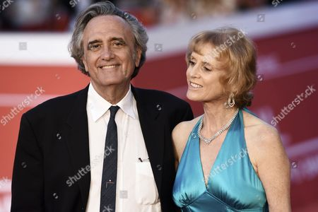 Joe Dante arrives with his wife Sylvia Dante