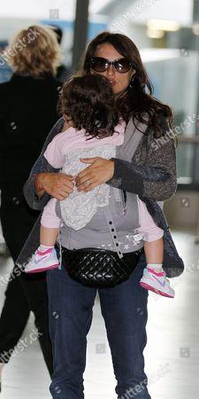Stock Image of Penelope Cruz and daughter Luna Encinas Cruz
