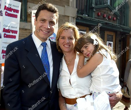Andrew Cuomo, his wife Kerry Kennedy Cuomo and 4 year old daughter Michaela Andrea Cuomo.