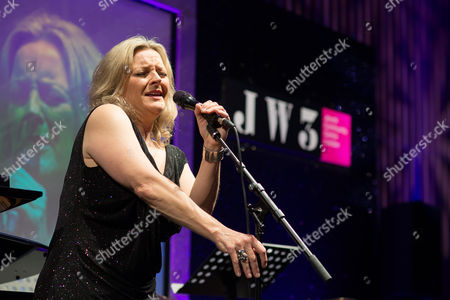 Jazz singer Claire Martin OBE performing at the JW3 Gala Dinner.