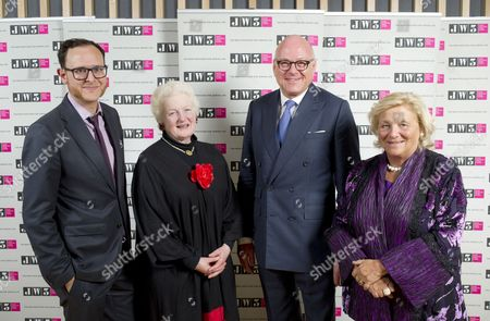 Raymond Simonson, Baroness Julia Neuberger, Lloyd Dorfman and Dame Vivien Duffield.