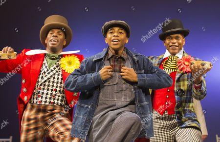 L-R: Colman Domingo as Mr Bones, Keenan Munn-Francis as Eugene Williams and Forrest McClendon as Deputy Tambo