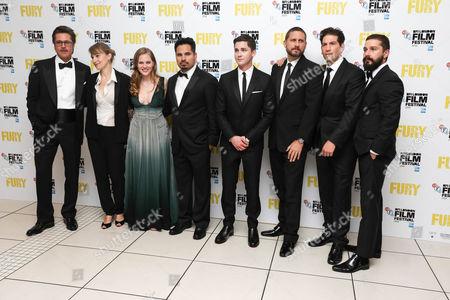 Brad Pitt, Anamaria Marinca, Alicia Von Rittberg, Michael Pena, Logan Lerman, David Ayer, Jon Bernthal and Shia LaBeouf