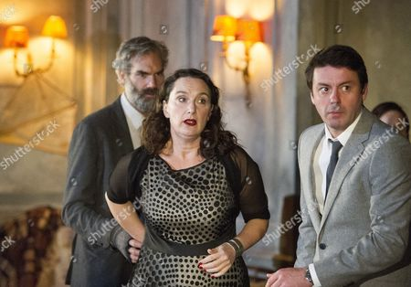 Angus Wright as Leonid Gaev, Kate Duchene as Lyubov, Dominic Rowan as Alexander