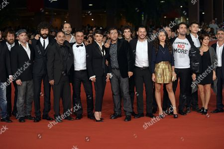 The director Alessandro Piva with cast Francesco Scianna, Valentina Lodovini, Carmine Recano, Francesco Di Leva, Salvatore Striano, Gianfranco Gallo