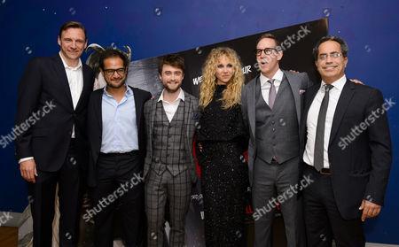 Zygi Kamasa, Riza Aziz, Daniel Radcliffe, Juno Temple, Joey McFarland and Guy Avshalom