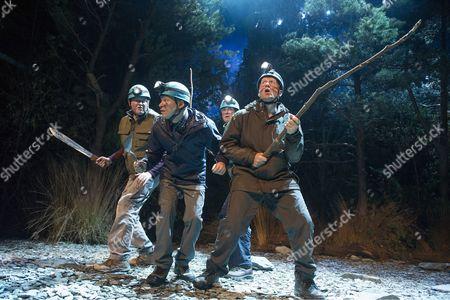 Miles Jupp as Angus, Robert Webb as Roy, Neil Morrissey as Neville, Adrian Edmondson as Gordon