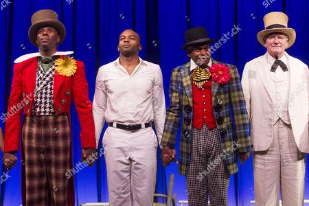 Colman Domingo (Mr Bones), Brandon Victor Dixon (Haywood Patterson), Forrest McClendon (Mr Tambo) and Julian Glover (The Interlocutor)