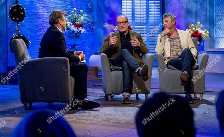 Alan Titchmarsh with Adrian Edmondson and Neil Morrissey