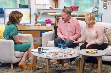 Lorraine Kelly with Edwyn Collins and wife Grace
