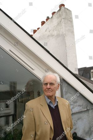 PETER NICHOLS AT HOME IN LONDON - 12 MAR 2003