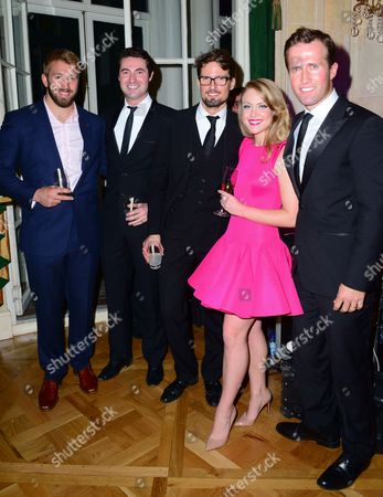 Stock Image of Chris Robshaw, Ollie Baines, Stephen Bowman, Camilla Kerslake, H