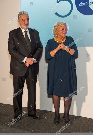 Dame Vivien Duffield and Placido Domingo