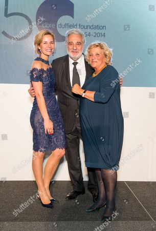 Darcey Bussell, Dame Vivien Duffield and Placido Domingo