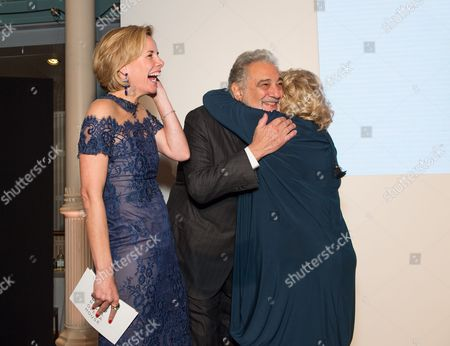 Darcey Bussell, Placido Domingo and Dame Vivien Duffield