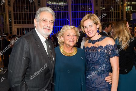 Placido Domingo, Dame Vivien Duffield and Darcey Bussell