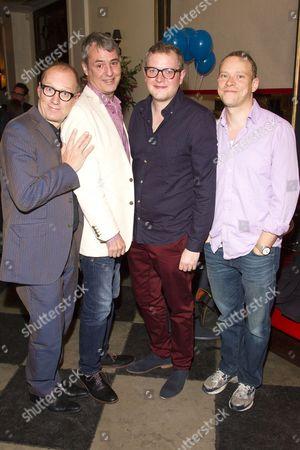 Adrian Edmondson (Gordon), Neil Morrissey (Neville), Miles Jupp (Angus) and Robert Webb (Roy)