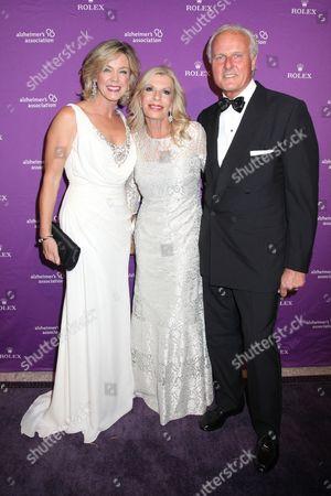 Deborah Norville, Princess Yasmin Aga Khan and Karl Wellner