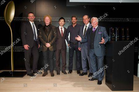 Stock Photo of Nikolai Glies (BMW), Mick Hucknall, Shuzo Kishida, Jon Rose, Heinz Reitbauer (alles Preistraeger) Eckart Witzigmann