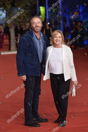 Stock Image of Christian De Sica with wife Silvia Verdone
