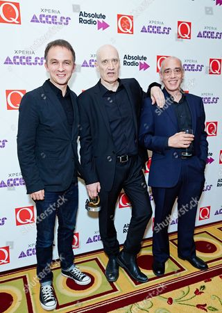 Wilko Johnson, winner of Q Icon presented by Carling's Black Label Project with Dylan Howe and Norman Watt-Roy