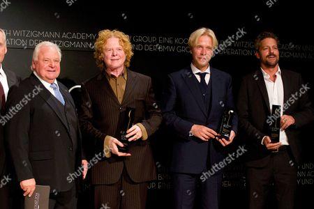 Eckart Witzigmann, Mick Hucknall, Chris de Margary and John Rose