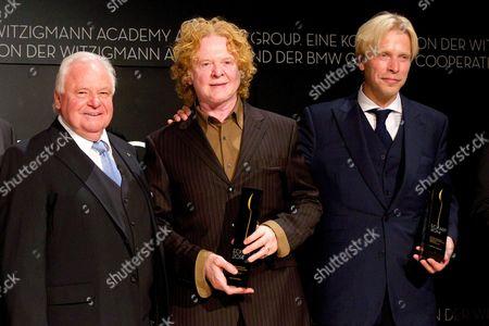 Eckart Witzigmann, Mick Hucknall and Chris de Margary