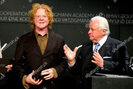 Mick Hucknall and Eckart Witzigmann