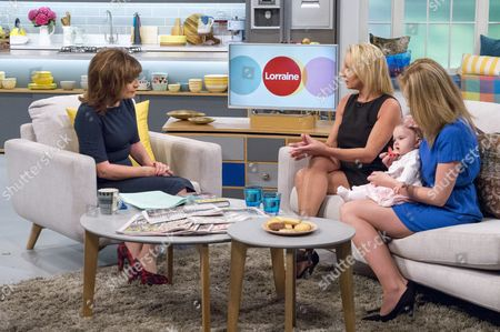 Lorraine Kelly with Kerry and Leighanna Needham