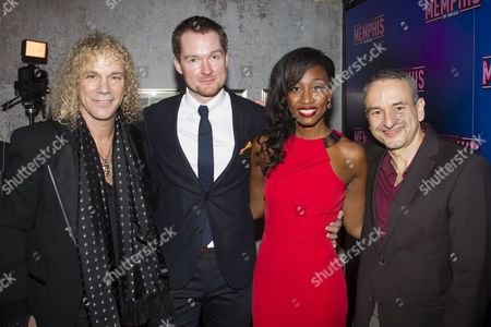 David Bryan (Music/Lyrics), Killian Donnelly (Huey Calhoun), Beverley Knight (Felicia Farrell) and Joe DiPietro (Author/Lyrics)