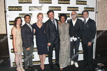 Stock Image of Kimberly Senior, Danny Ashok, Gretchen Mol, Josh Radnor, Karen Pittman, Playwright Ayad Akhtar, Hari Dhillon
