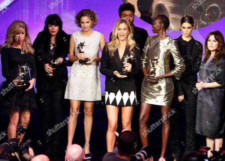 Stock Picture of Carmen Geiss, Alex Hepburn, Emma Ferrer, Bar Refaeli, Noah Becker, Alek Wek, Melissa Satta and Natalia Avelon