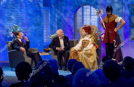 Alan Titchmarsh and Terry Deary (horrible histories)