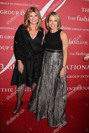 Katie Couric (L) and Lisa Paulsen