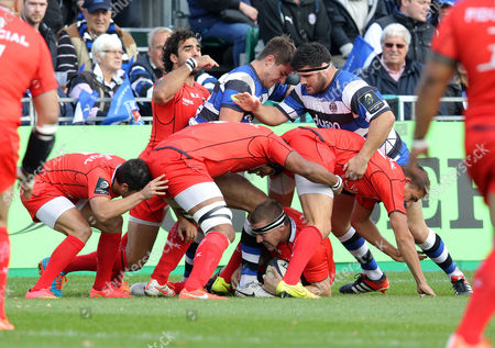 Imanol Harinordoquy of Toulouse in possession Bath v Toulouse - 25/10/2014 - European Rugby Champions Cup - The Recreation Ground, Bath - UK  Andrew Fosker / Seconds Left Images / Rex