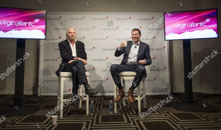 Virgin Atlantic President Sir Richard Branson and Chief Executive Craig Kreeger