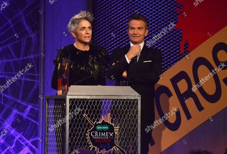 Stock Photo of Crime writing Legend Denise Mina was inducted into the Crime Writers Association Hall of Fame for her contribution to the genre, with host Bradley Walsh