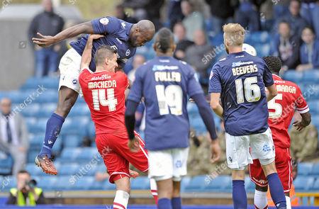 Danny Shittu scores Millwall's winning goal.