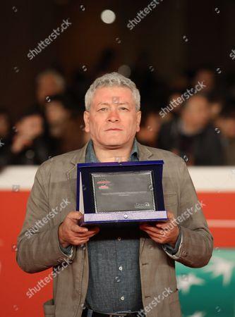 Stock Image of Gaetano Di Vaio, Award for the Best Italian Documentary Largo Baracche