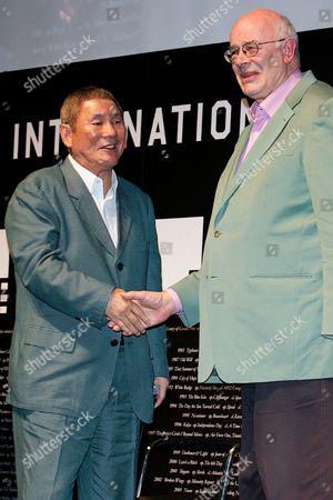 Stock Image of Takeshi Kitano and Tony Rayns