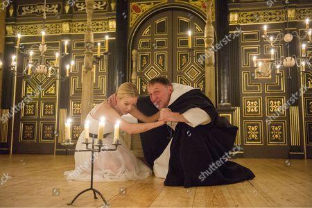 Fiona Button as Annabella, Michael Gould as Friar Bonaventure