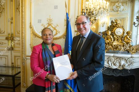Christiane Taubira and Jean-Yves Le Bouillonnec