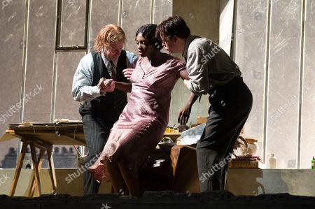 Barnaby Rea (Colline), Angel Blue (Mimi) and David Butt Philip (Rodolfo)