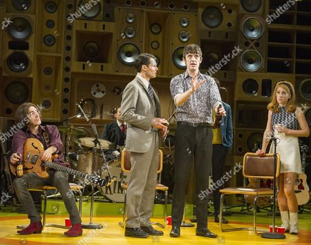 George Maguire as Dave Davies, Tam Williams as Grenville Collins, John Gagliesh as Ray Davies, Carly Anderson as Gwen