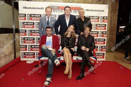 Stock Image of Gary Kemp, Tony Hadley and Martin Kemp with John Keeble, George Hencken and Steve Norman