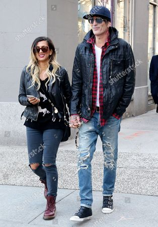Tommy Lee and fiancee Sofia Toufa