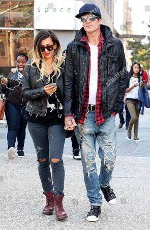 Tommy Lee and fiancee Sofia Toufa