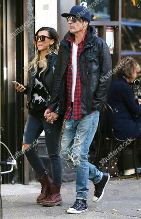 Stock Image of Tommy Lee and fiancee Sofia Toufa
