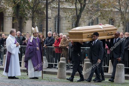 The coffin of Christophe de Margerie