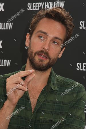 Editorial picture of Tom Mison and John Noble visit FOX's Sleepy Hollow-een Pumpkin Patch, New York, America - 28 Oct 2014